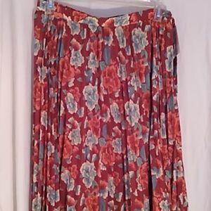 LulaRoe Deanne Skirt orange floral L